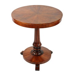 Walnut Segmented Top Lamp Table