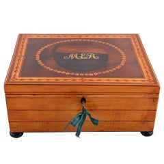 Regency Satinwood Jewel Box