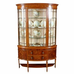 Demi Lune Mahogany Display Cabinet