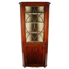 Georgian Mahogany Double Corner Cabinet