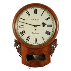 19th Century Fusee Wall Clock