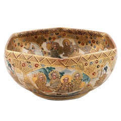 Japanese Satsuma Pottery Bowl