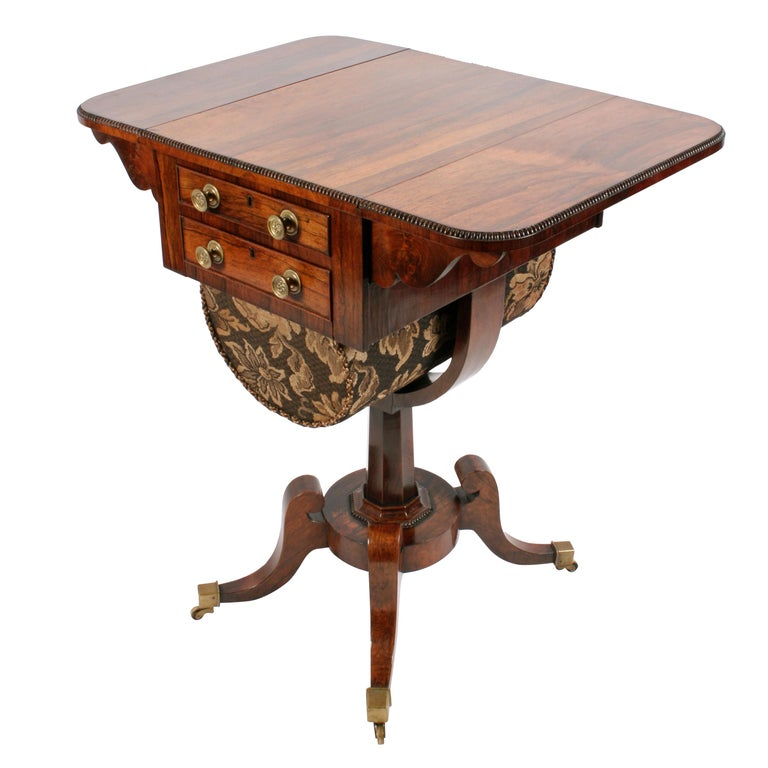 Regency Rosewood Work Table For Sale