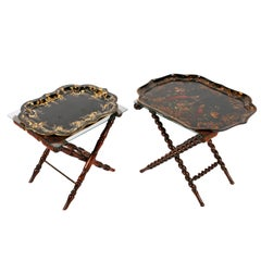Two Mid-19th Century Rosewood Tray Stands