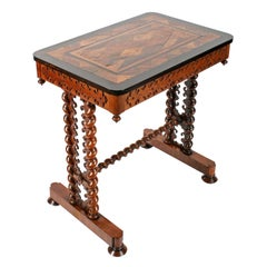Specimen Top One Drawer Table