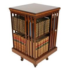 Maple Co Inlaid Revolving Bookcase