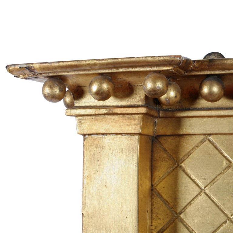 Early 19th Century Regency Giltwood Overmantel Mirror For Sale