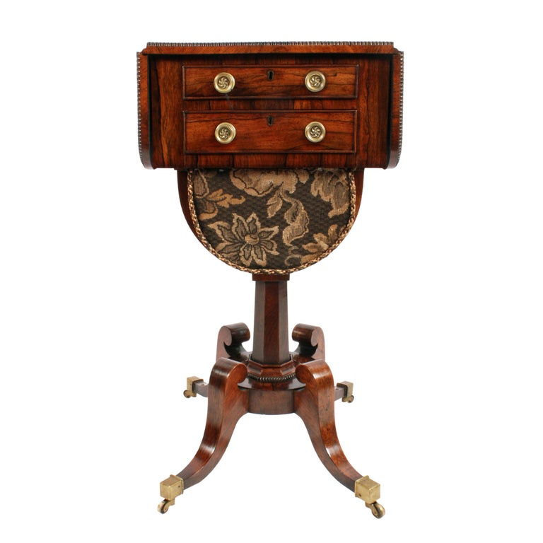 19th Century Regency Rosewood Work Table For Sale