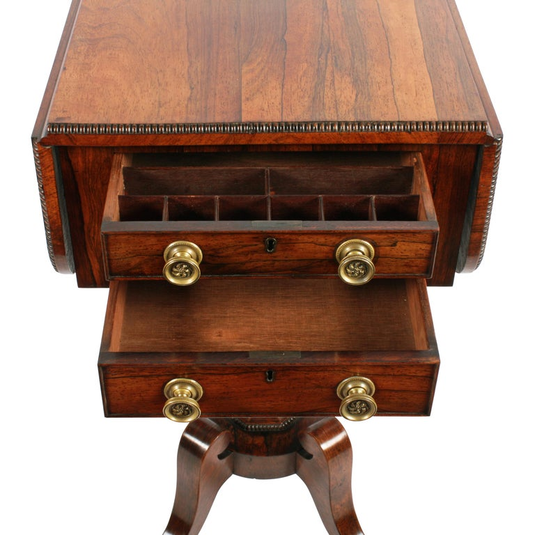Regency Rosewood Work Table For Sale 2