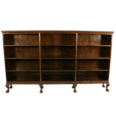 Large Chippendale Style Open Bookcase