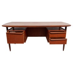 Tijsseling for Hulmefa Midcentury Teak Writing Desk