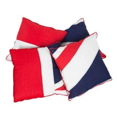 Collection of Cushions Made from Vintage Union Jacks