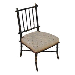 Single French Ebonised Chair in the Aesthetic Style