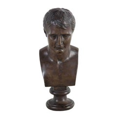 19th Century Bronzed Plaster Bust of Napoleon