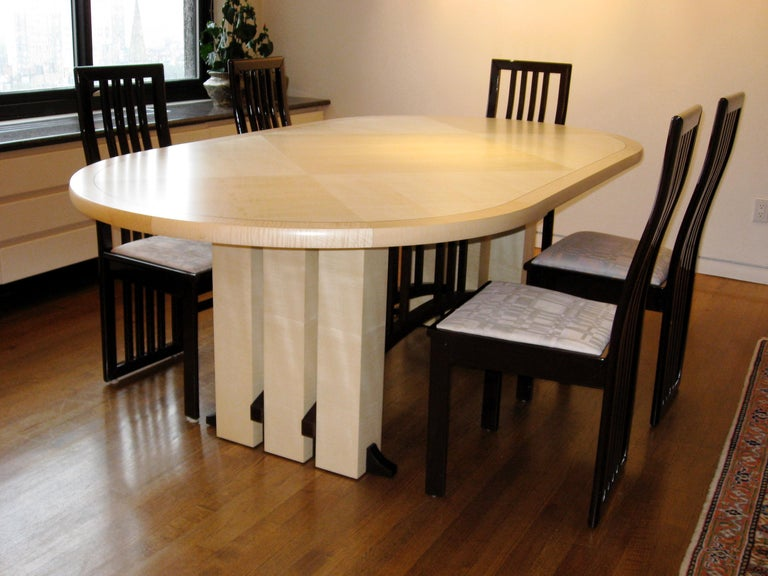 Contemporary Gramercy Tavern Dining or Desk Table, Hand crafted and Designed by Gregg Lipton For Sale
