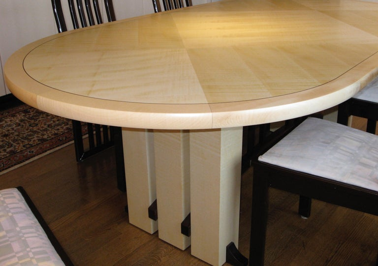 Wood Gramercy Tavern Dining or Desk Table, Hand crafted and Designed by Gregg Lipton For Sale
