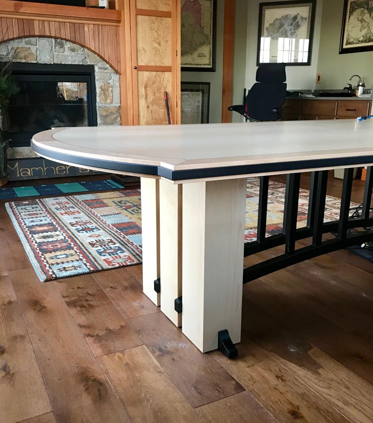 American Gramercy Tavern Dining or Desk Table, Hand crafted and Designed by Gregg Lipton For Sale