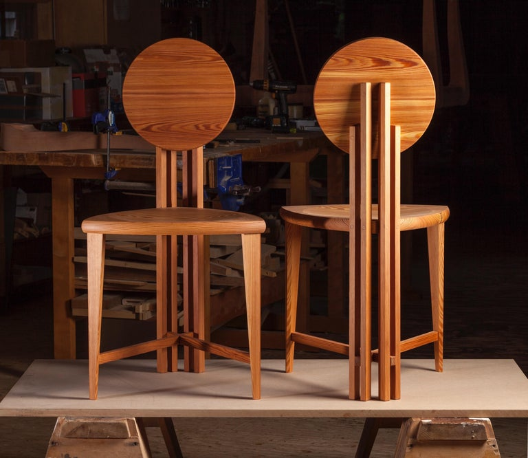 The circle-back chair has all of the elements we strive for in great design. It sounds cliche' but it's totally true; Nothing can be added and nothing can be taken away in this design. Inspired originally by Frank Lloyd Wright's Barrel chair, this