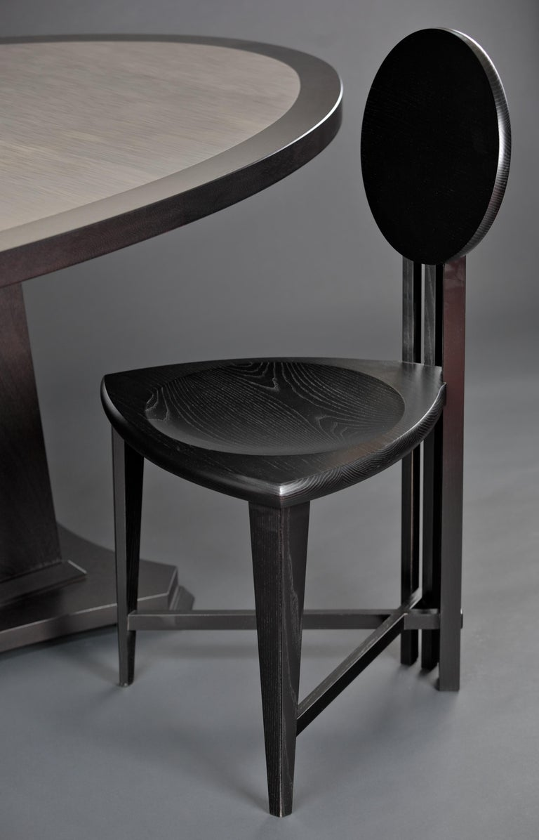 Circle-Back Chairs, Contemporary Handmade Dining, Desk, or Corner Chairs In New Condition For Sale In Cumberland, ME