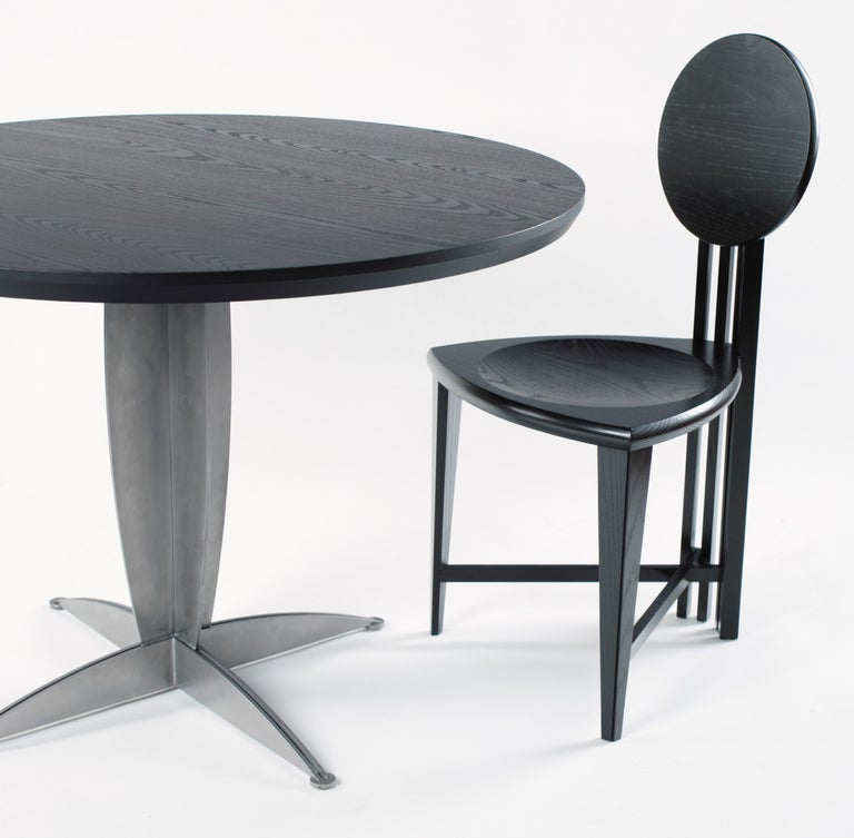 Circle-Back Chairs, Contemporary Handmade Dining, Desk, or Corner Chairs For Sale 1