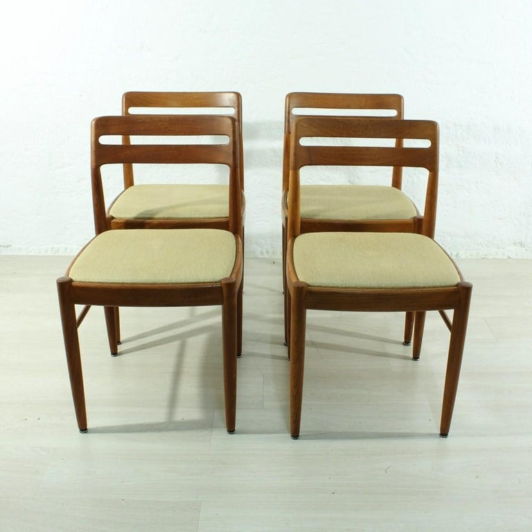 Mid-Century Modern Set of 4 1960s Teak Dining Chairs by H.W. Small for Bramin For Sale