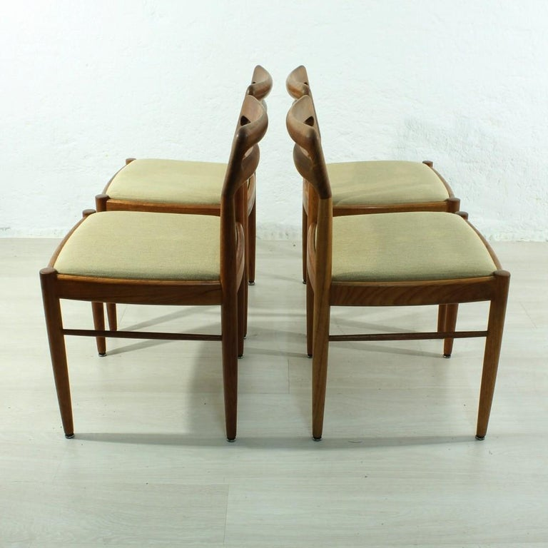 Set of 4 1960s Teak Dining Chairs by H.W. Small for Bramin In Good Condition For Sale In Freiburg, DE