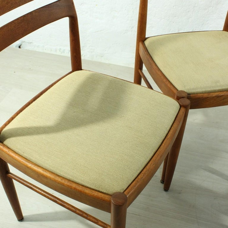 Mid-20th Century Set of 4 1960s Teak Dining Chairs by H.W. Small for Bramin For Sale