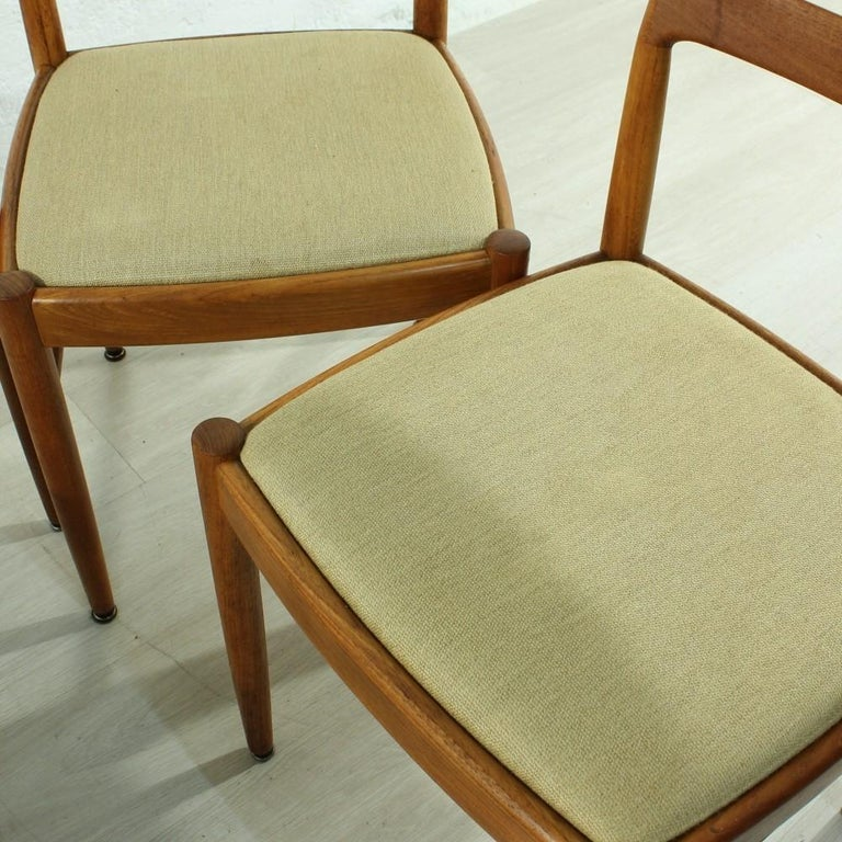 Set of 4 1960s Teak Dining Chairs by H.W. Small for Bramin For Sale 2