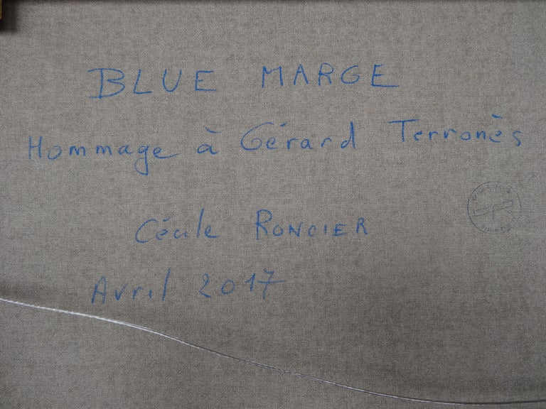 Cécile Roncier, Painting Blue Marge, 2017 For Sale 10