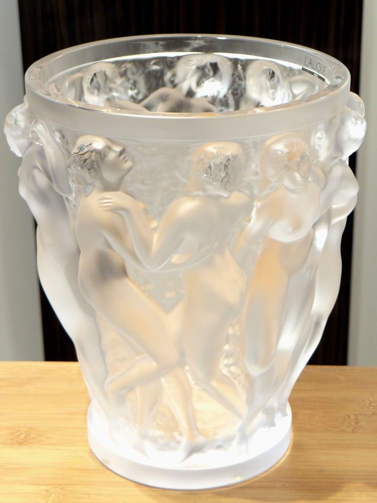 Lalique, Vase Bacchantes Crystal Clear, 1927 For Sale 1