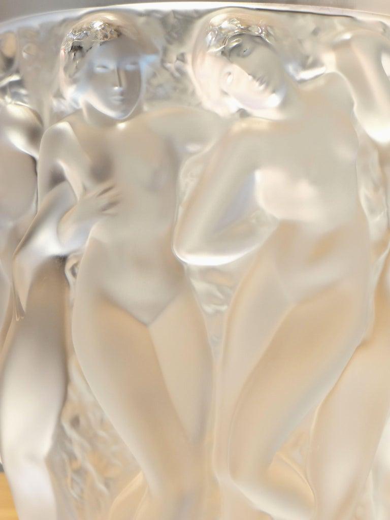 Lalique, Vase Bacchantes Crystal Clear, 1927 For Sale 6