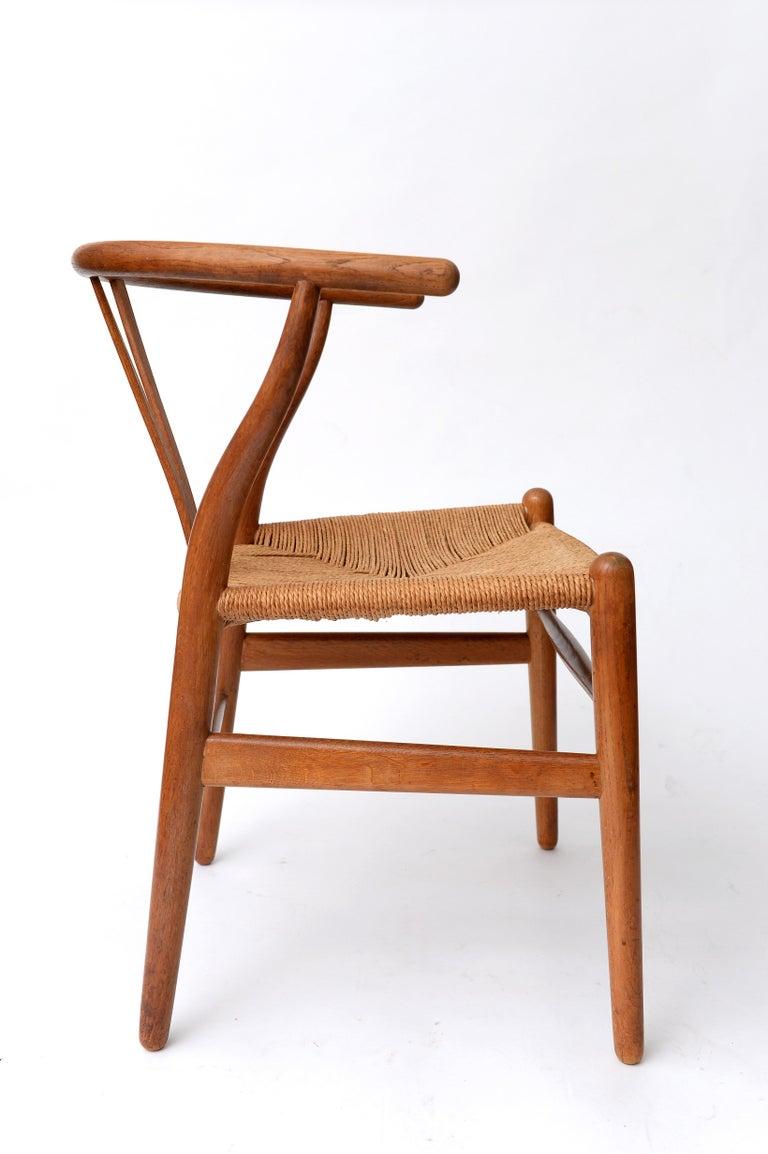 Mid-20th Century Vintage Hans Wegner Wishbone Chair and a Jorgen Baekmark Stool, 1960s For Sale