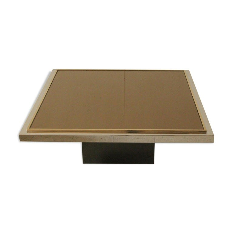 Square Coffee Table by Belgochrom, 1970s