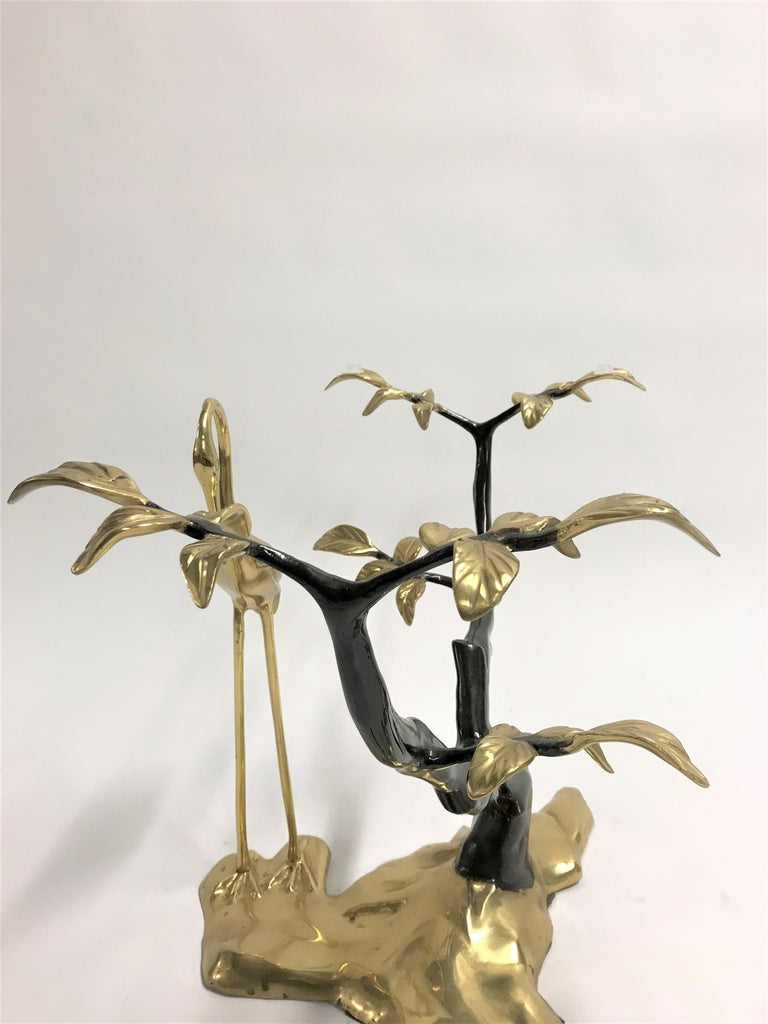 Bronze Crane Bird Coffee Table by Willy Daro, 1970s For Sale 2