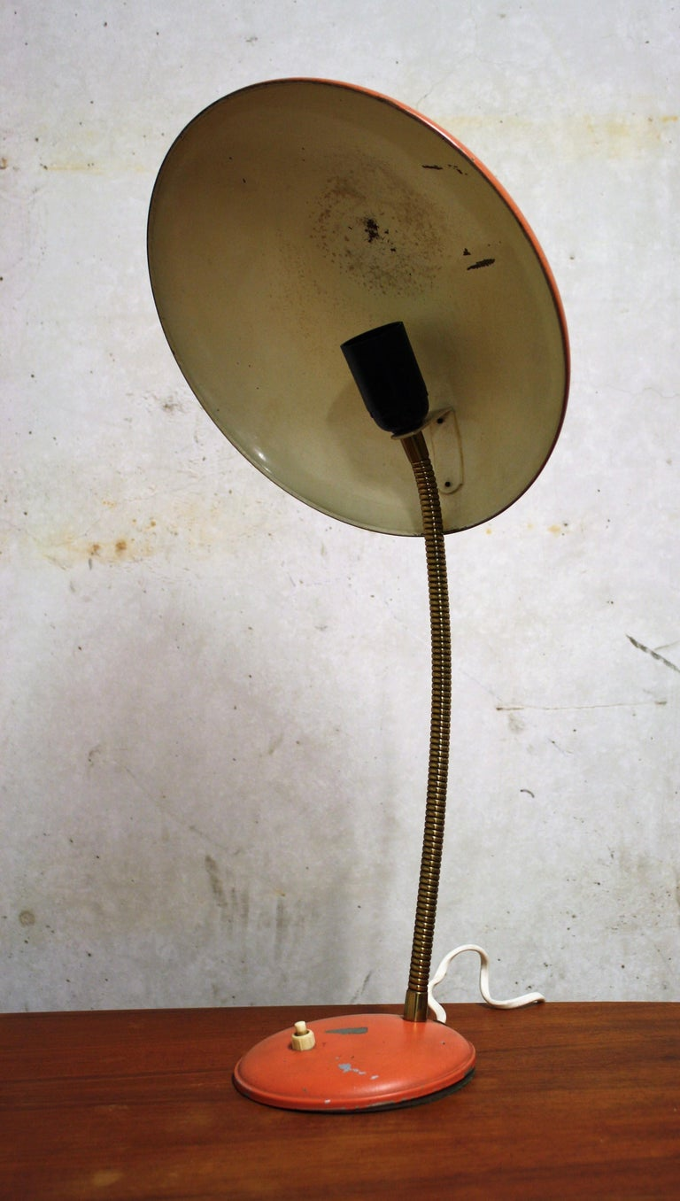Orange Midcentury Table Lamp by Philips, 1960s In Good Condition For Sale In Sint Joris Weert, BE