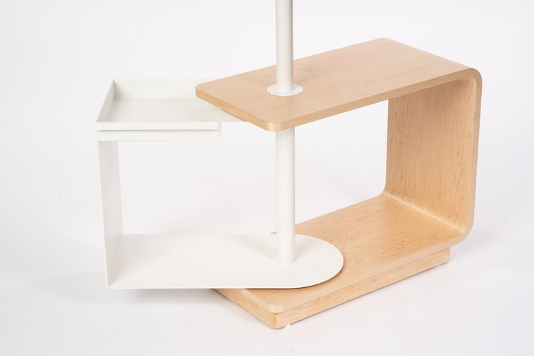 Garcia Multi-Functional Coat Rack and Side Table with Storage In New Condition For Sale In Woodbridge, Ontario