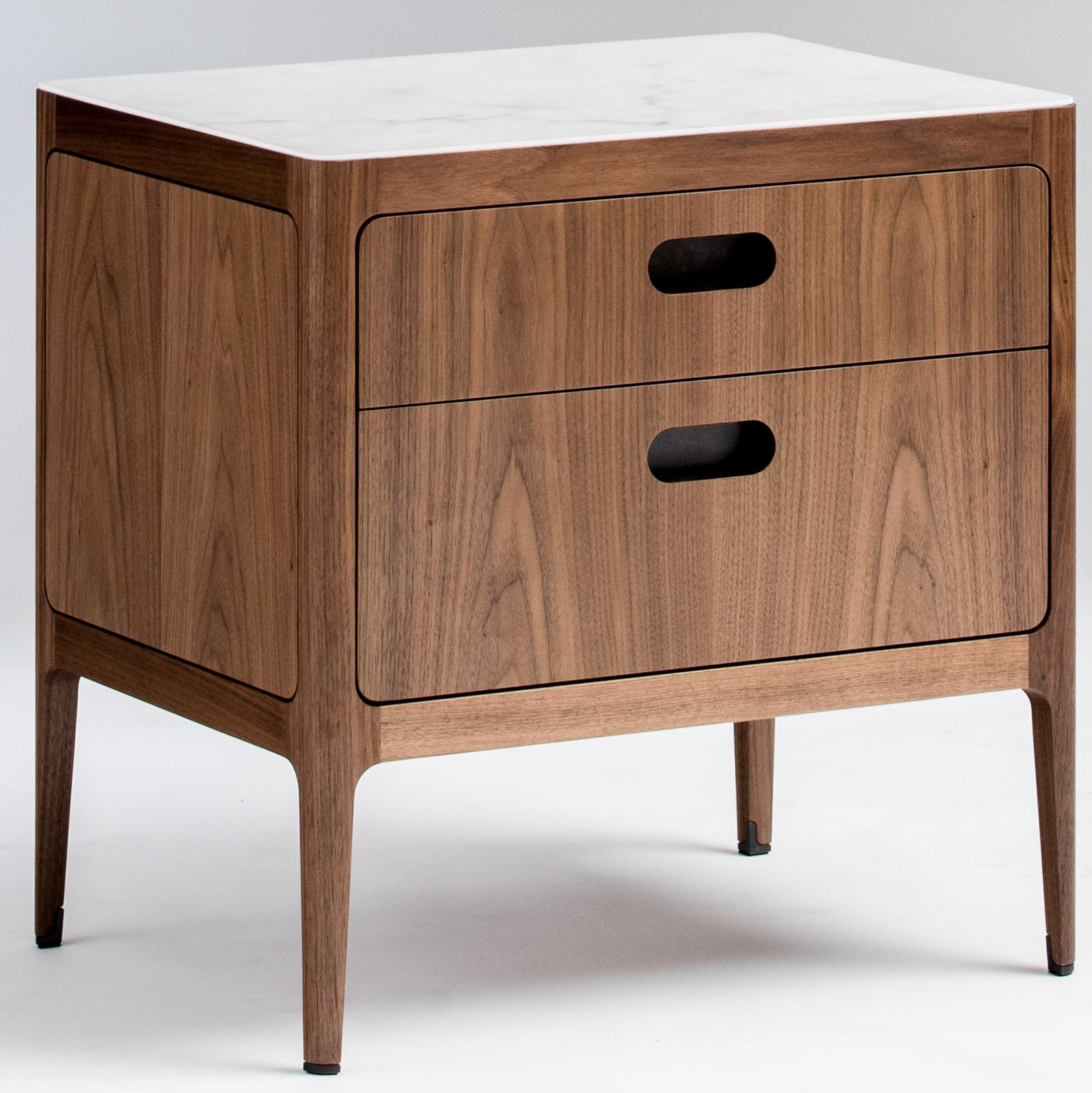 This Modern Walnut Side Table Or Nightstand Fits Beautifully With Both  Traditional And Contemporary Designs.