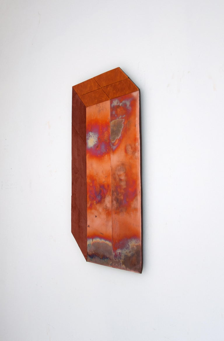 Mid-Century Modern Contemporary Sculptural Wall Piece by Miriam Loellmann, One of a Kind, 2018 For Sale