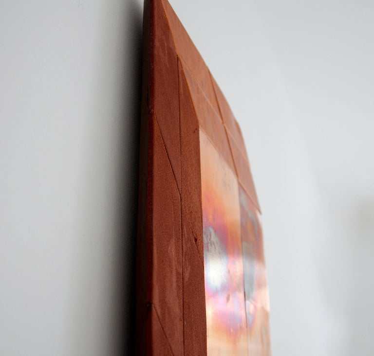 Brazilian Contemporary Sculptural Wall Piece by Miriam Loellmann, One of a Kind, 2018 For Sale