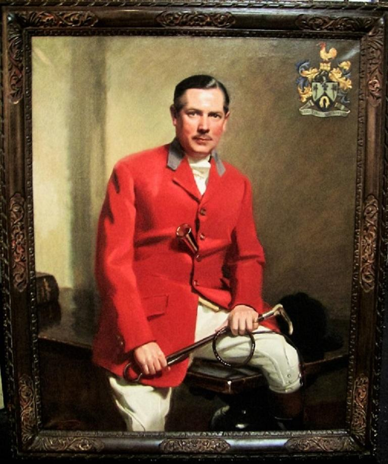 Hand-Painted British Portrait by Frank Owen Salisbury of Sidney Shephard Esq For Sale