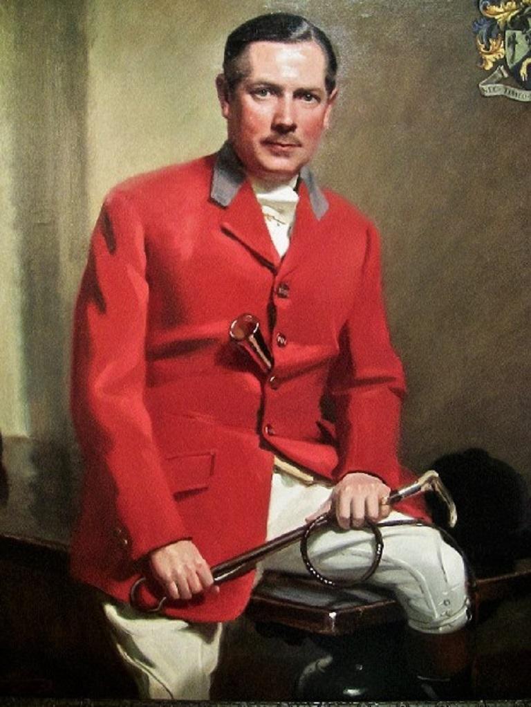 British Portrait by Frank Owen Salisbury of Sidney Shephard Esq In Excellent Condition For Sale In Dallas, TX