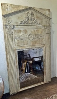 Large 19c French Neoclassical Revival Trumeau Mirror
