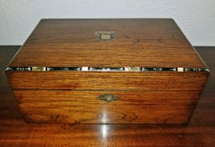 Early 19C Irish Mahogany Writing Slope with Armorial Crest