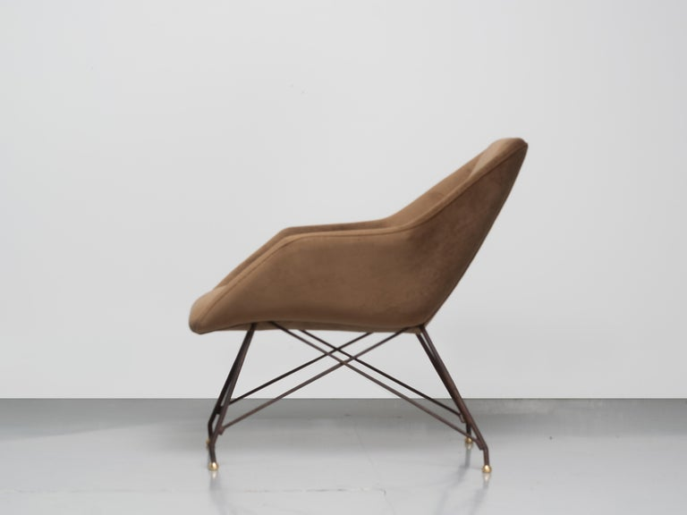 Mid-Century Modern 'Concha' Armchairs, Martin Eisler and Carlo Hauner, Modern Brazilian Design 1955 For Sale