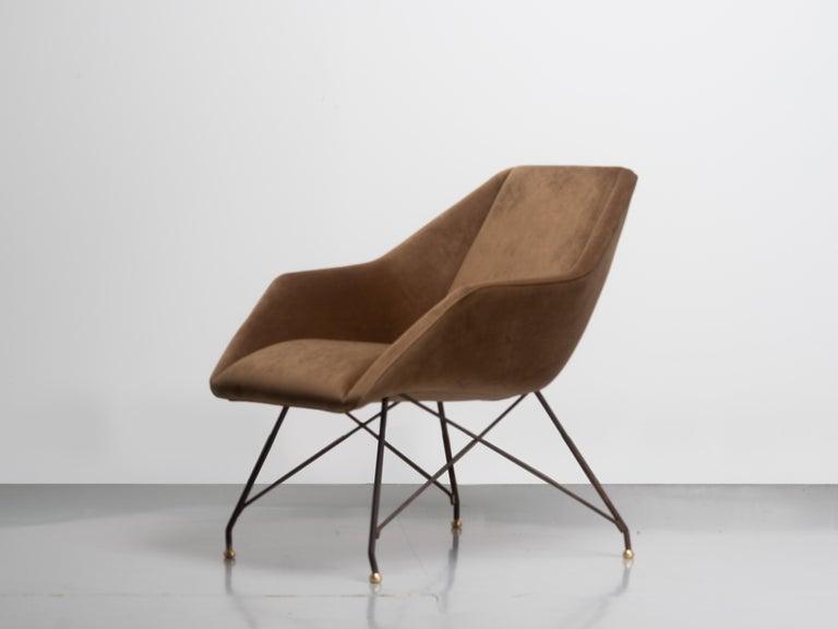 Mid-20th Century 'Concha' Armchairs, Martin Eisler and Carlo Hauner, Modern Brazilian Design 1955 For Sale