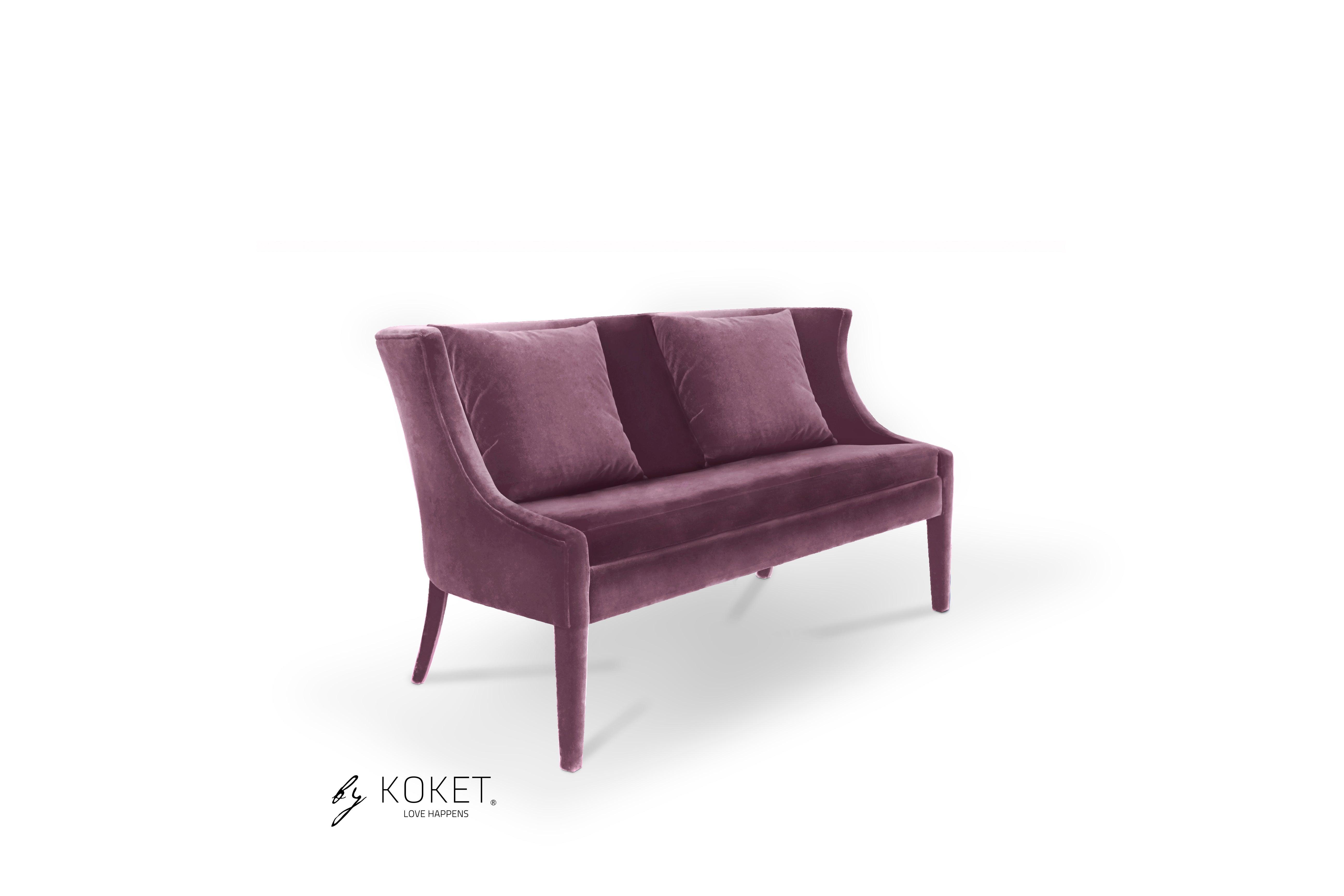 Chignon Sofa In Beige Velvet