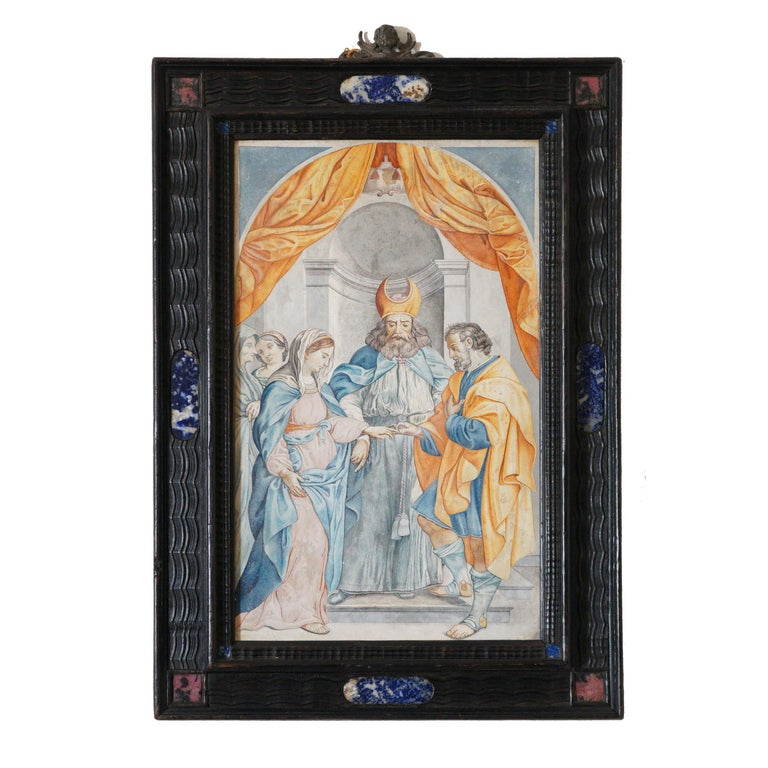 17th Century Scagliola Marriage Mystique