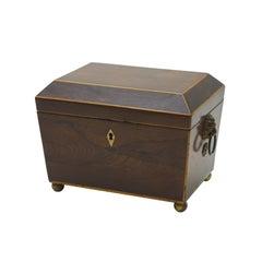 Regency Rosewood Tea Caddy Box
