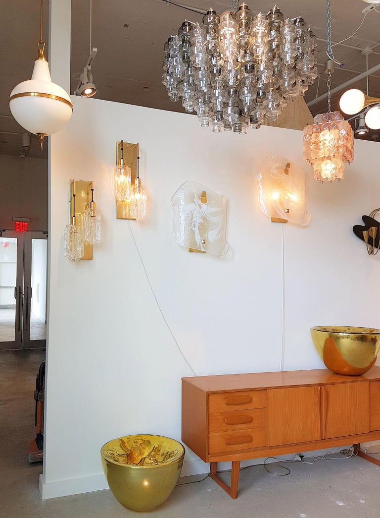 Late 20th Century Murano Smoke/Clear glass Mid-Century Modern Seguso Chandelier/Flush Mount, 1970s For Sale
