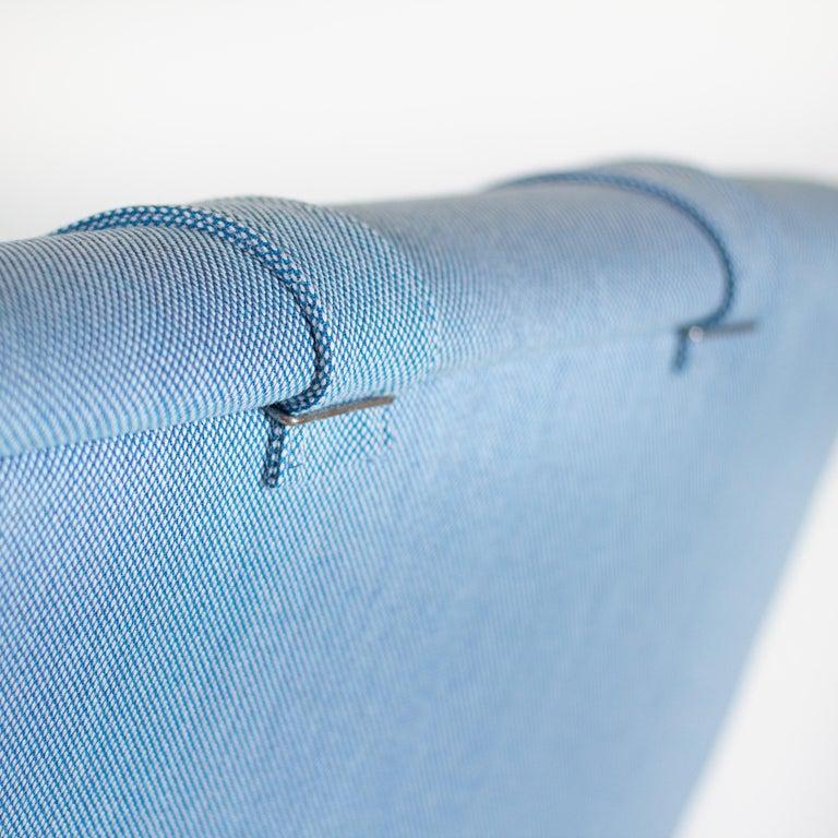 Powder Blue Mid Century Armchair by Folke Ohlsson for Fritz Hansen, Denmark For Sale 8